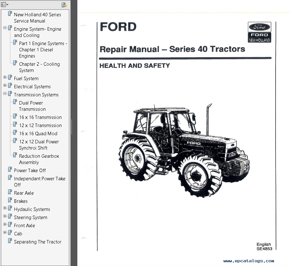 repair manual New Holland Ford 5640 6640 7740 8240 8340 Tractors Service  Manual PDF - 1