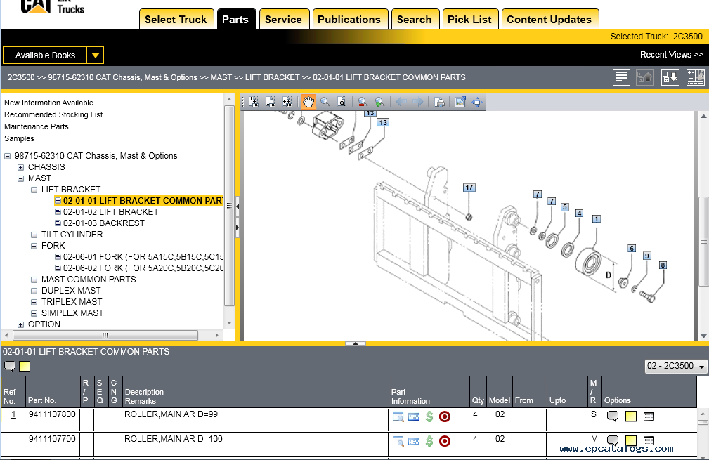 caterpillar lift trucks 2016 mcfa parts catalog caterpillar lift trucks 2017 (mcfa) usa parts catalog, spare parts wiring diagram for caterpillar forklift at soozxer.org