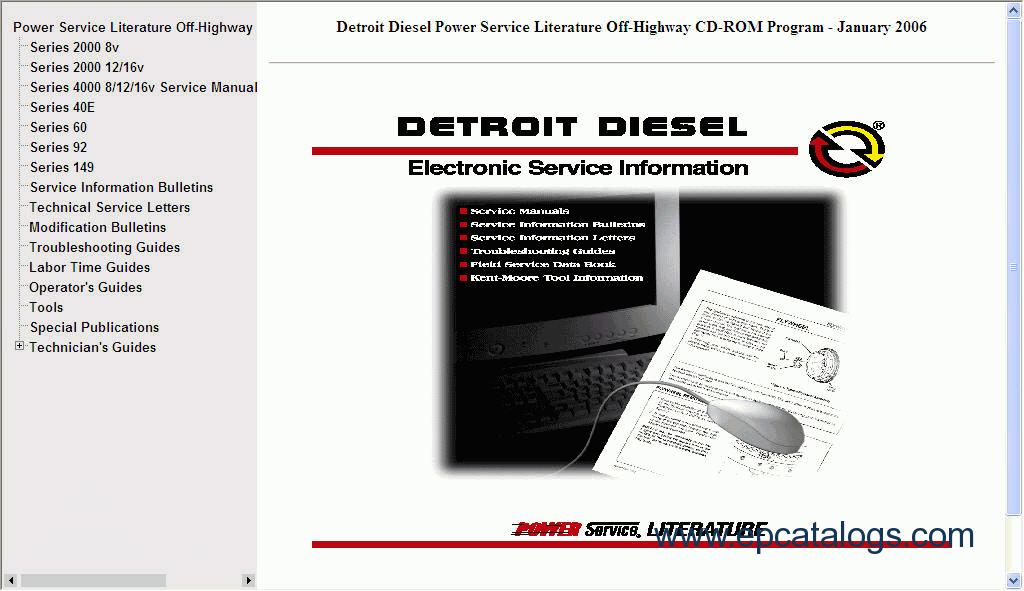 detroit diesel power service literature off highway rh epcatalogs com Detroit Diesel Engines Detroit Diesel Engines