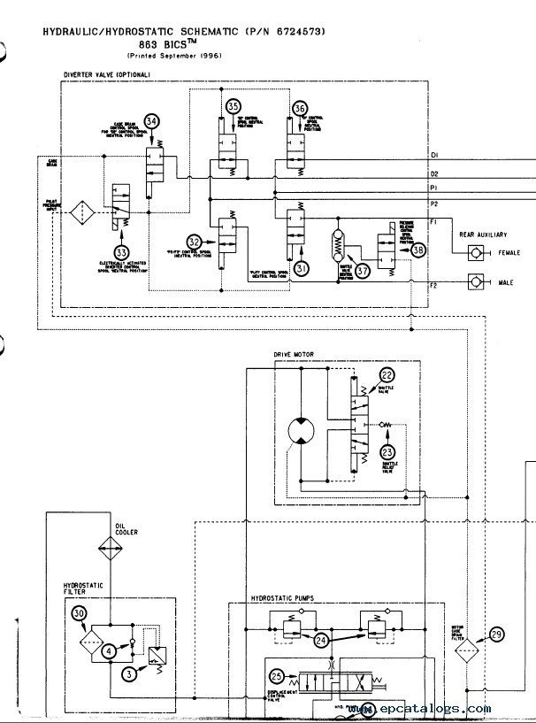 bobcat 863 wiring diagram bobcat image wiring diagram bobcat 863 863h skid steer loader service manual pdf repair on bobcat 863 wiring diagram
