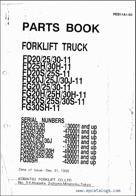 Komatsu Forklift  Repair Manual  Forklift Trucks   Manuals