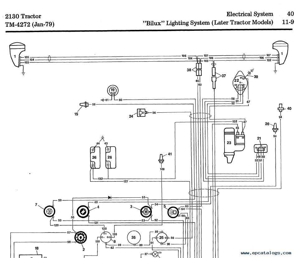 john deere 60 tractor wiring diagram john deere tractor 2130 tm 4272 technical manual pdf  2130 tm 4272 technical manual pdf