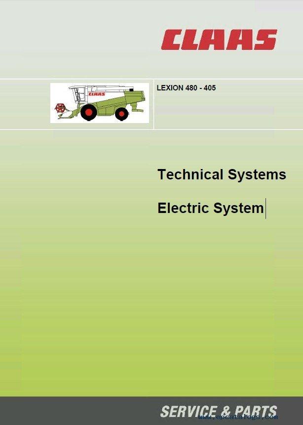 Claas Lexion 405 410 415 420 430 440 450 460 480 Pdf Manuals
