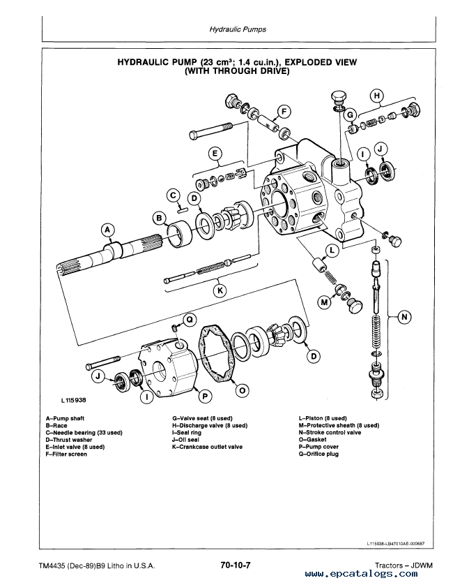 John Deere Hydraulic Diagram For 4230