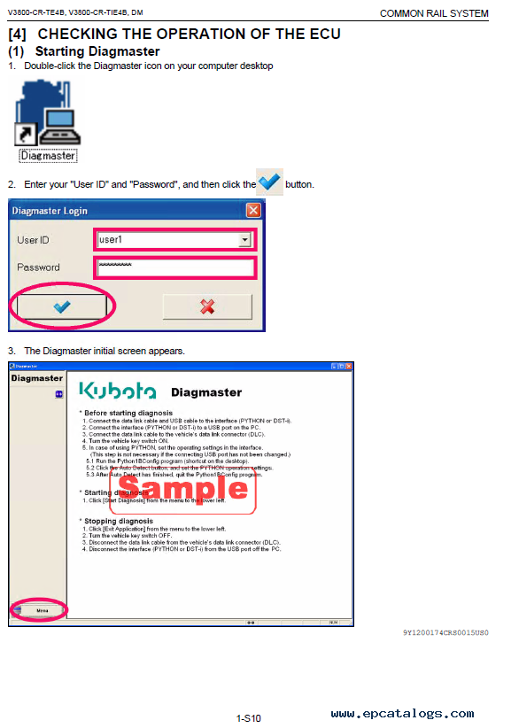 Kubota Common Rail System V3800-CR (Hyundai) Diagnosis Manual PDF