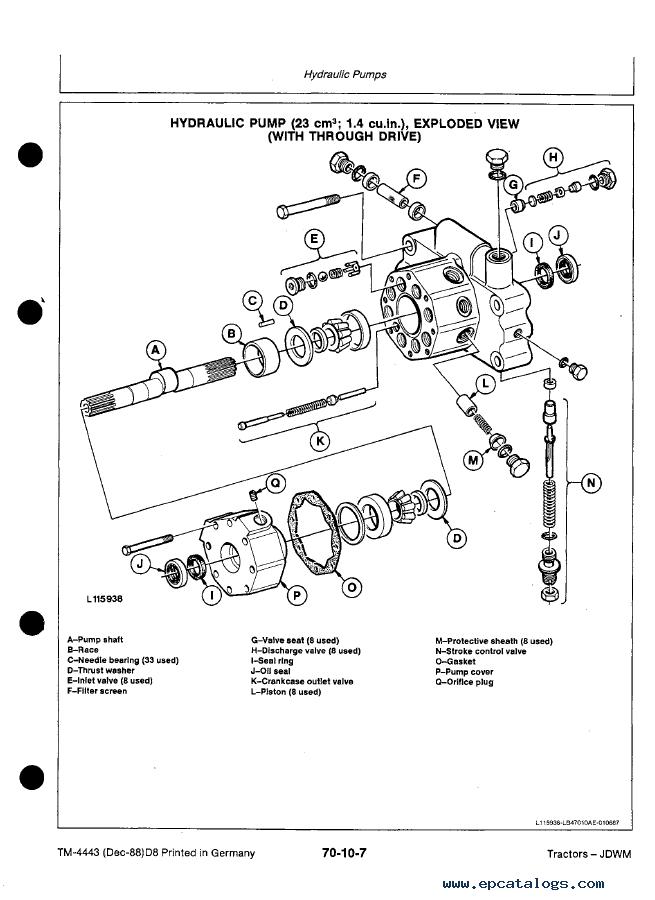 John Deere 3050 3350 3650 Tractor Tm4443 Technical Manual