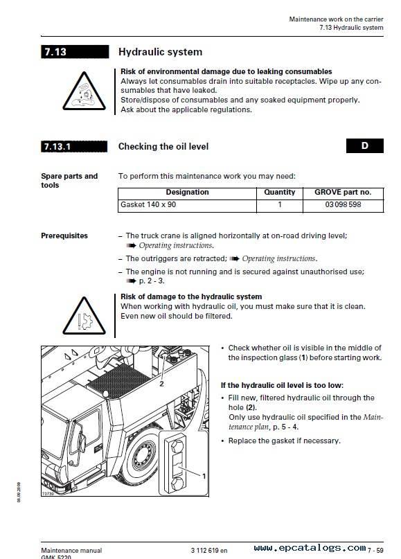 Download Grove Truck Crane GMK 5220 Maintenance PDF