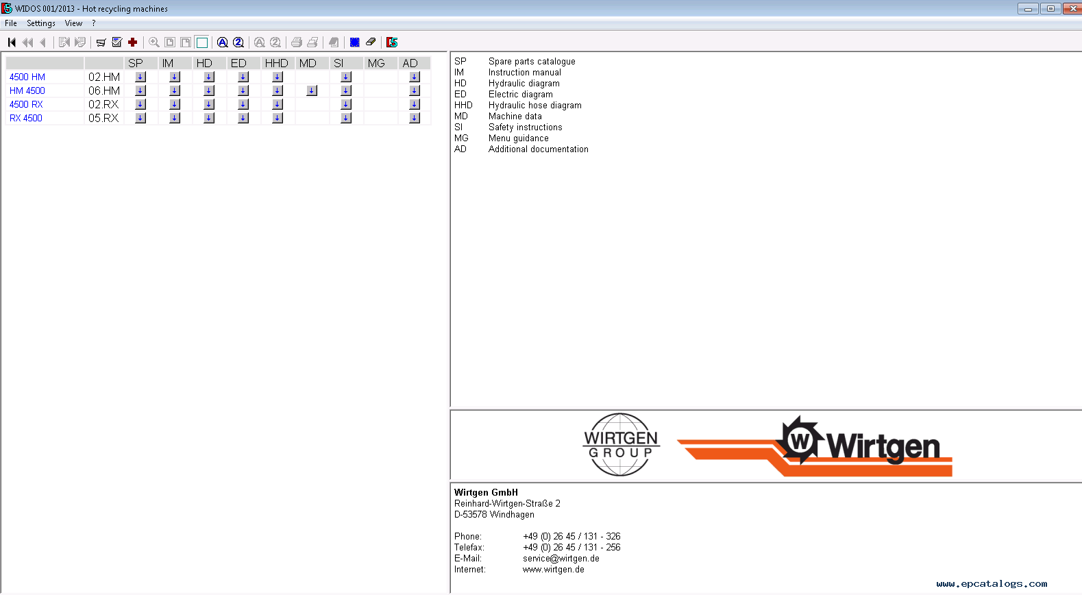 Enlarge spare parts catalog full heavy technics package online via rdp 13 enlarge