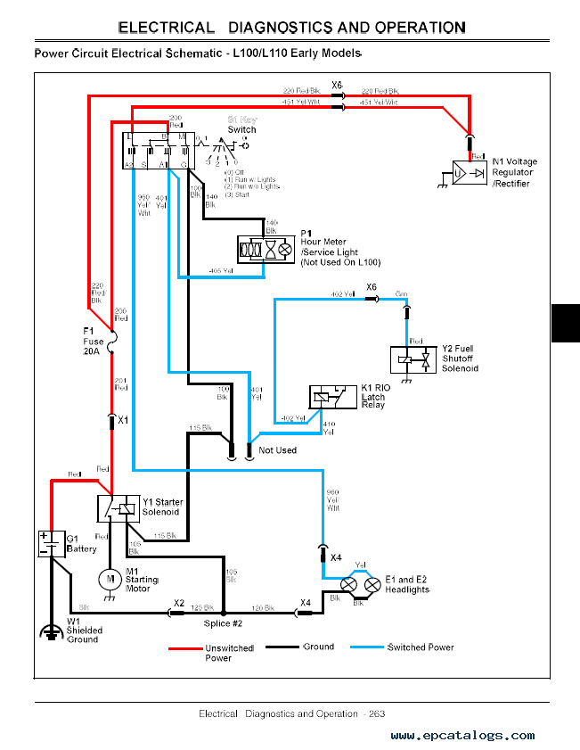 John Deere L120 Pto Wiring Diagram : Wiring diagram for john deere ignition