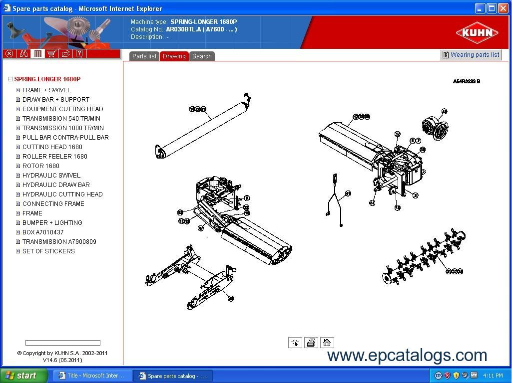 Kuhn S A  2011 Spare Parts Catalog Download