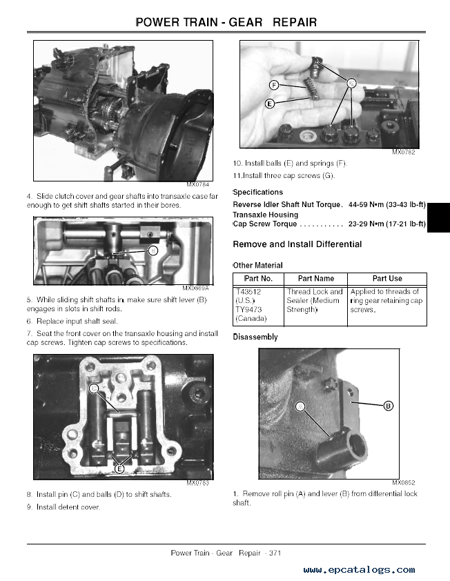 John Deere Progator 2020 2030 Utility Vehicle Tm1759 Pdf
