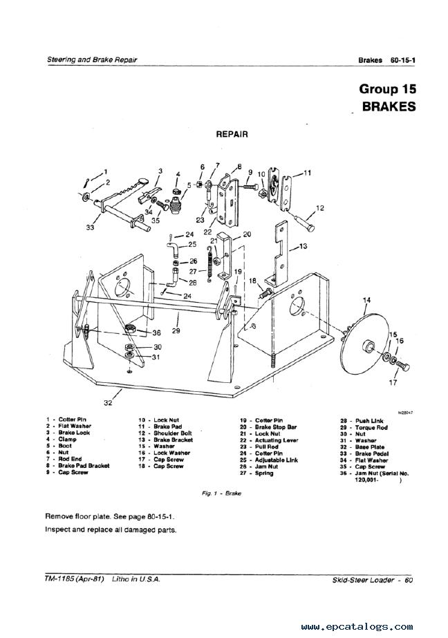 John Deere 60 Skid Steer Loader Technical Manual TM1185 PDF on farmall h tractor wiring diagram, john deere starter wiring diagram, 8n ford tractor wiring diagram,
