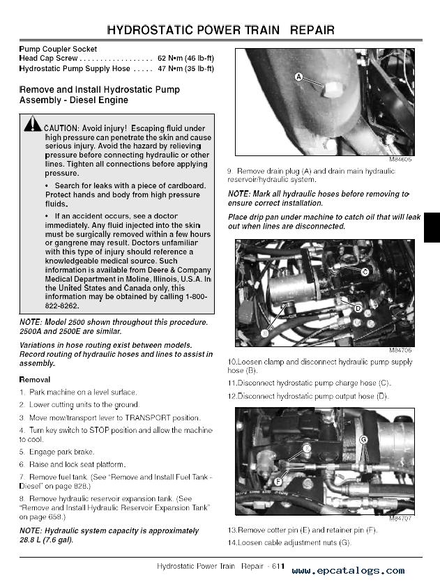 john deere 2500 2500a 2500e professional greens mower john deere 2010 wiring diagram free download
