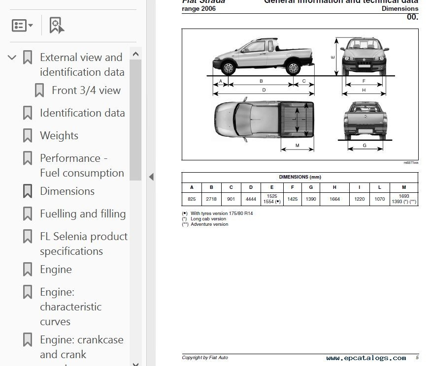 fiat strada range 2006 service manual pdf rh epcatalogs com Fiat Toro 2014 Fiat Strada