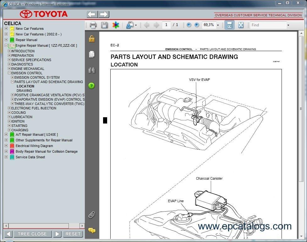toyota celica rh epcatalogs com toyota celica workshop manual celica st184 workshop manual