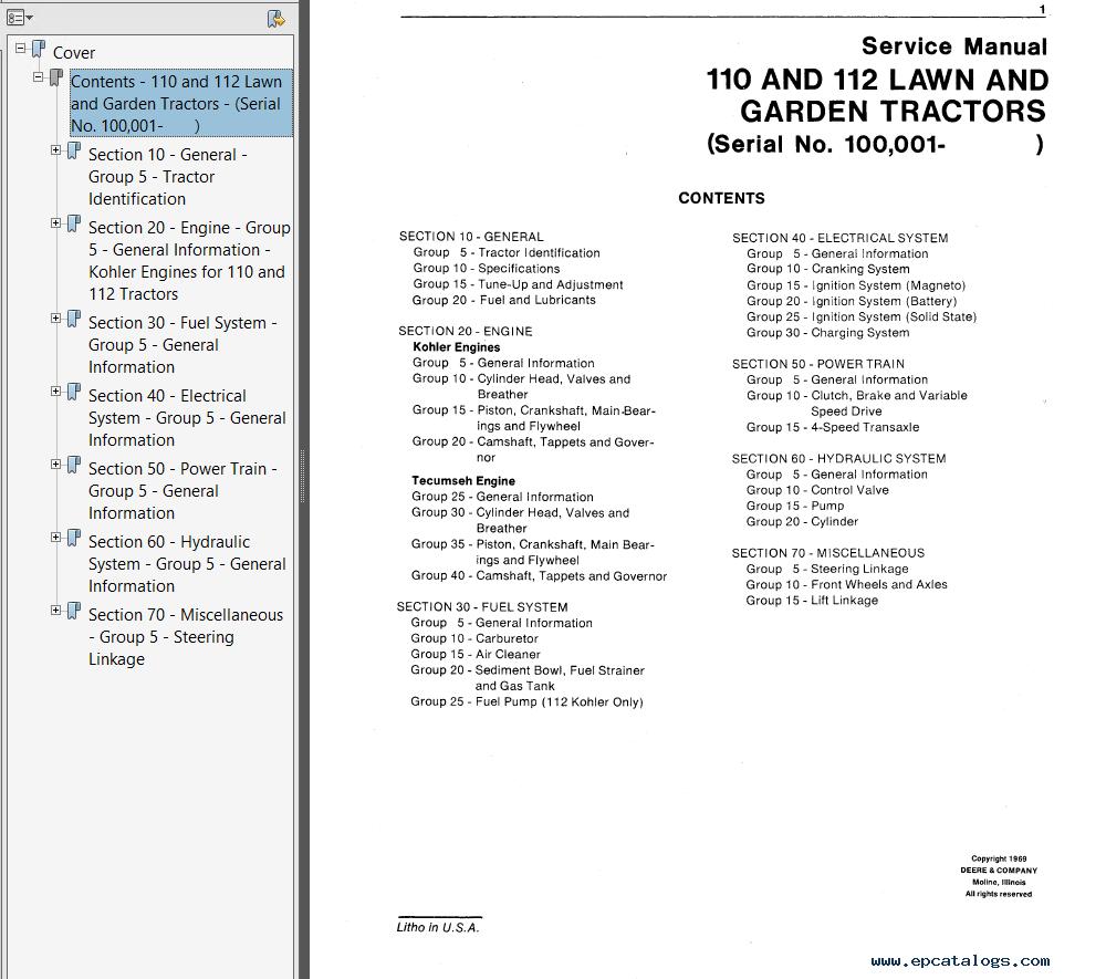 John Deere 110 Tlb Service Manual Best Deer Photos Water Alliance
