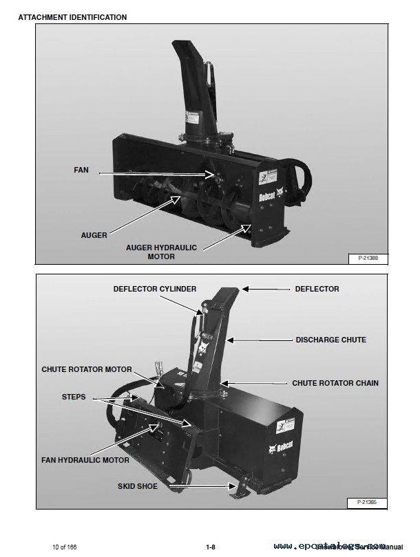 Bobcat SB150, SB200, SB240, SBX240 Snowblowers Service Manual PDF