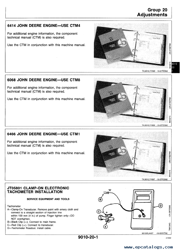 John Deere 850b manual
