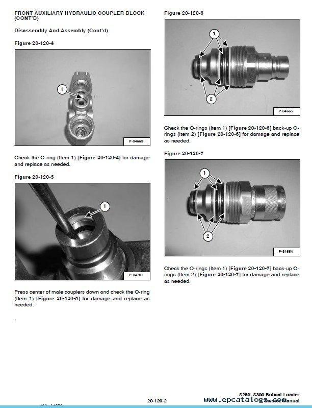 Bobcat S250 Turbo, S300 Turbo High Flow Loaders Service Manual PDF