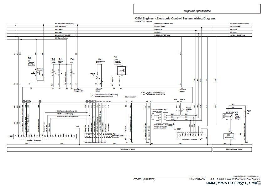 john deere level 12 electronic fuel system w de10 pump. Black Bedroom Furniture Sets. Home Design Ideas