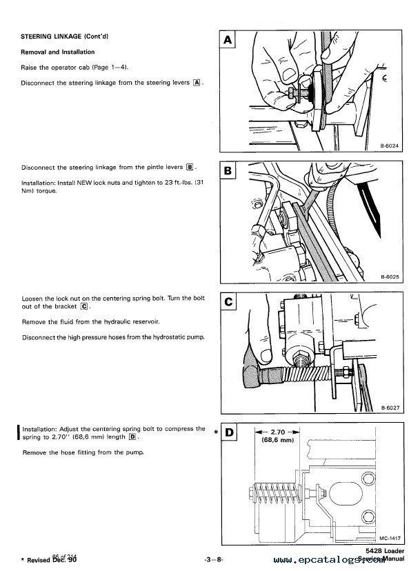 Bobcat 542b Loaders Service Manual Pdf