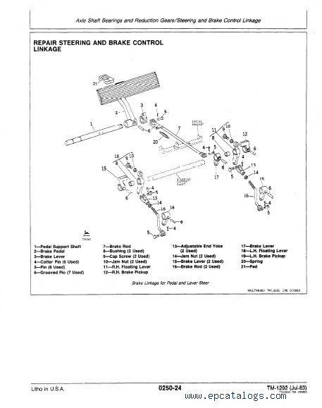 John Deere 550a 555a Crawler Loader  Dozer Tm1292 Pdf