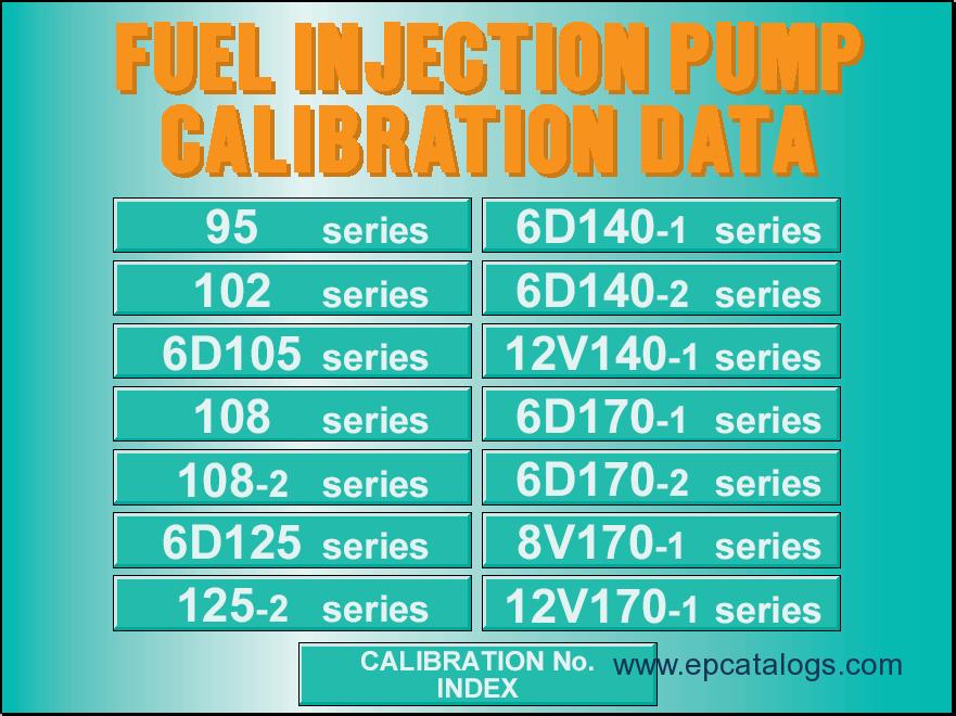 komatsu fuel injection pump calibration data. Black Bedroom Furniture Sets. Home Design Ideas