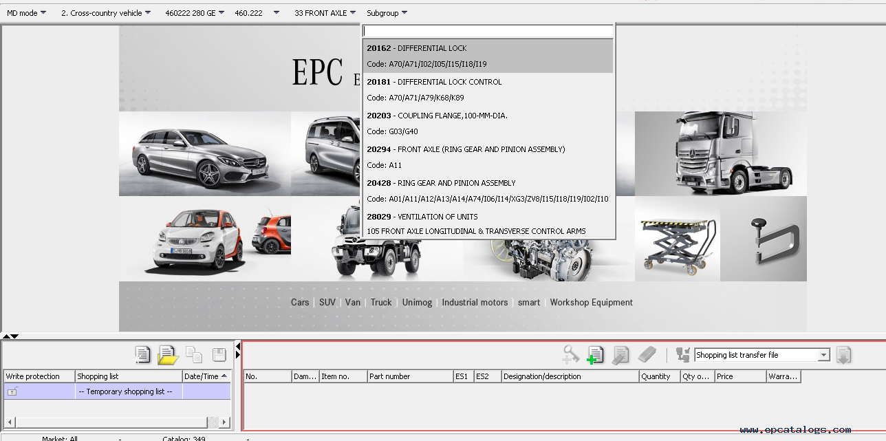 Mercedes benz epc ewa net auto electronic parts catalog for Mercedes benz part catalog