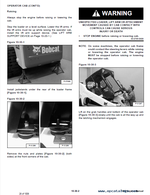Bobcat t300 Owners Manual