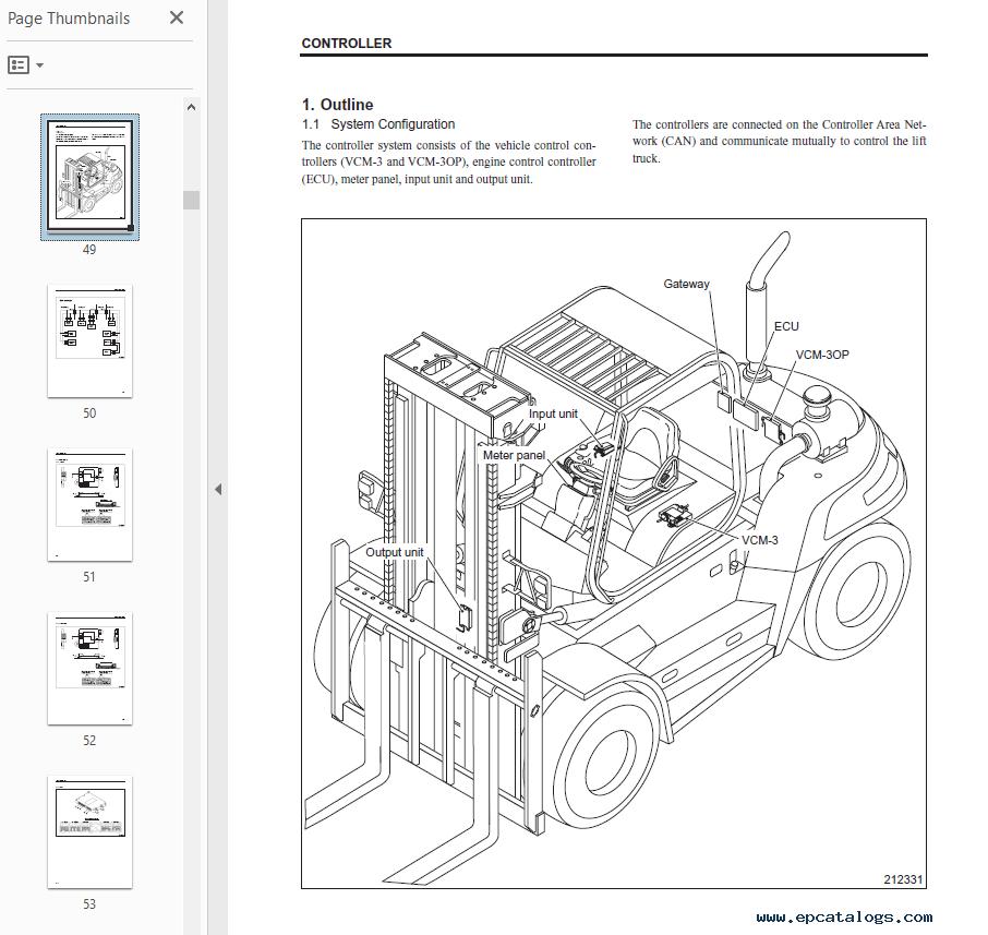 Caterpillar DP100N DP120N DP135N DP150N DP160N Forklifts Service Manual on