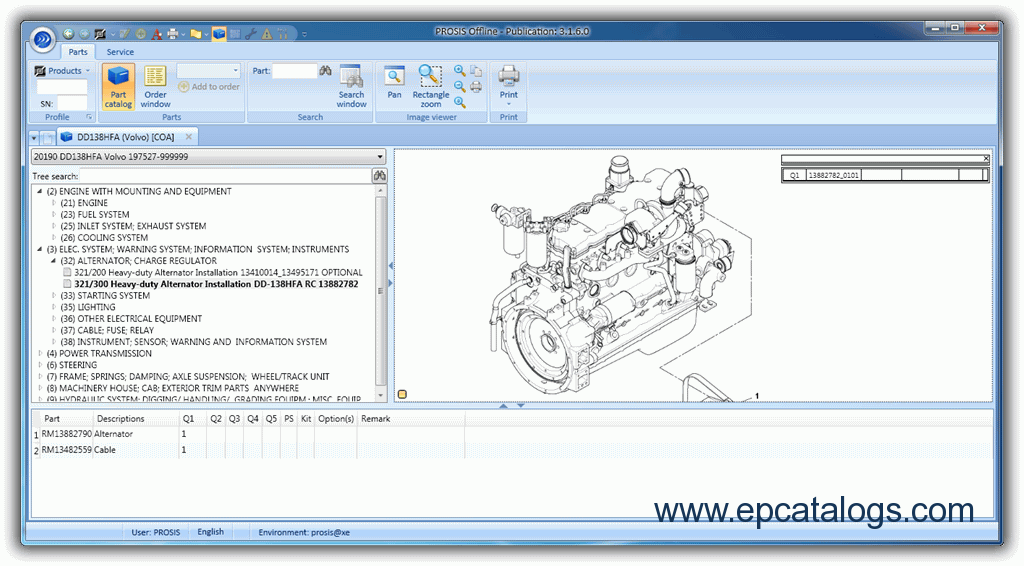 Volvo PROSIS 2012 Parts and Repair Manual Download