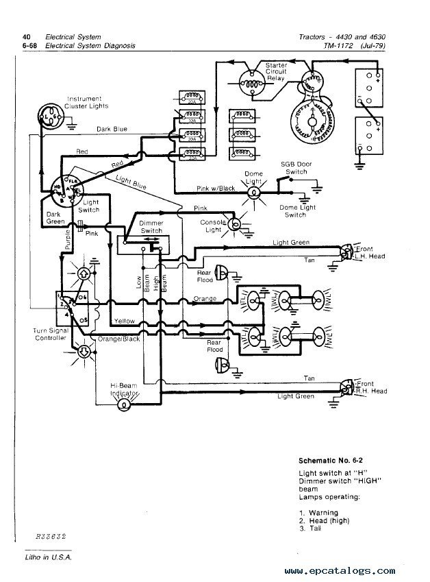 I have a 4430 and none of the lights work, some lights are ... John Deere Wiring Diagram on john deere 4410 parts diagram, john deere 4410 oil filter, john deere 4410 fuel pump, john deere 4410 specifications, john deere 4410 fuel system, john deere 4410 cover, john deere 4410 battery,