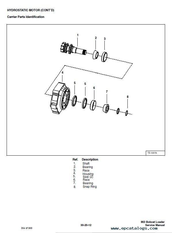 Bobcat 863 863hf Turbo Skid Steer Loaders Service Manual