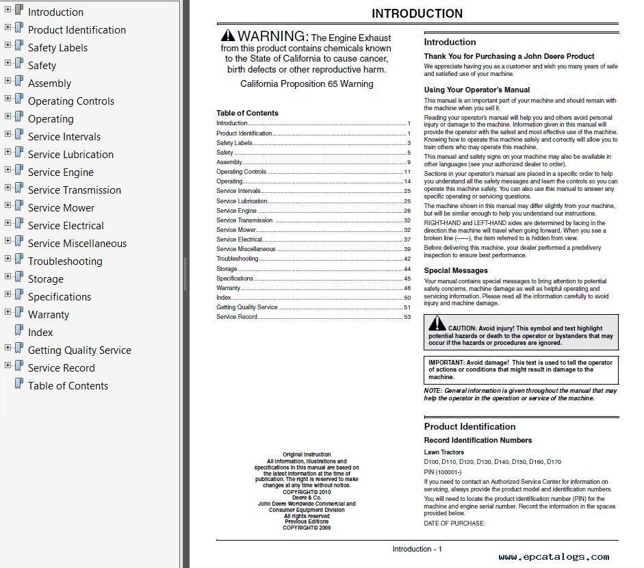 John deere tractors 100 series omgx23532 j0 pdf omgx23532 j0 operators manual pdf 1 enlarge publicscrutiny Image collections