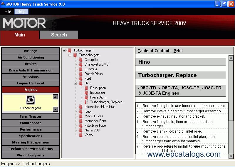 Motor Heavy Trucks Service 2009