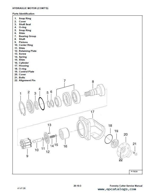 Bobcat Frst Cttr Frc50 Forestry Cutter Service Manual