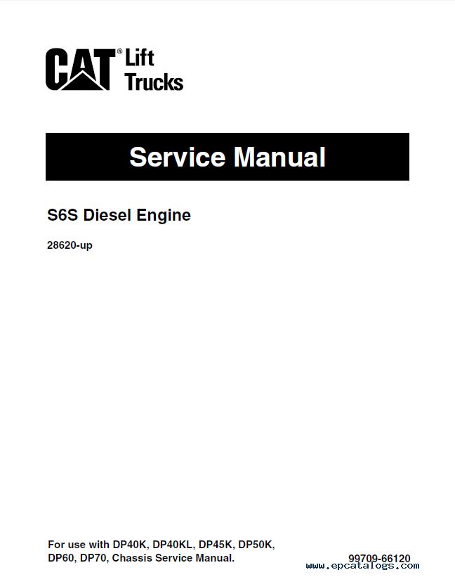 caterpillar dp60  u0026 dp70 forklifts service manual pdf