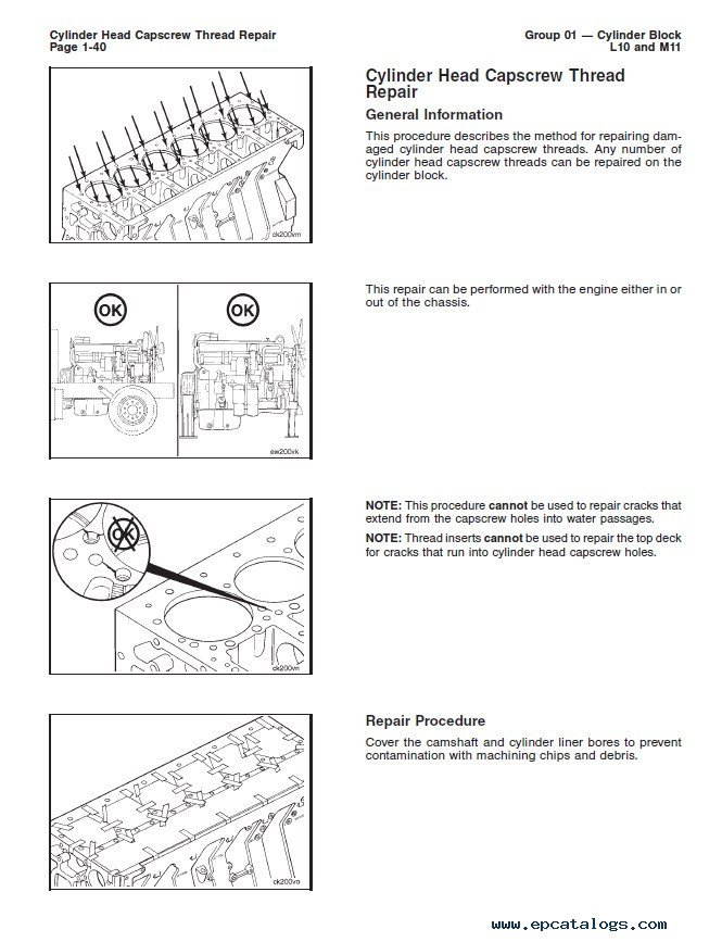 Cummins L10 & M11 Series Engines Alternative Repair Manual PDF