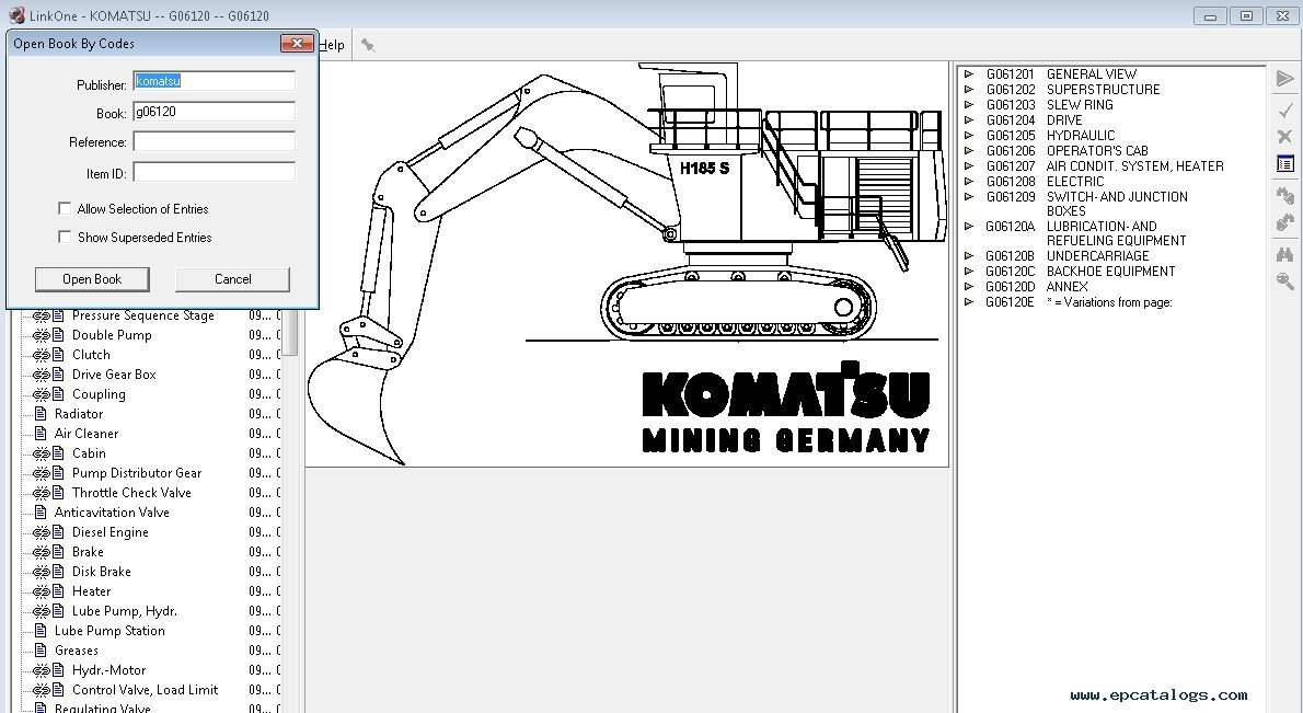 Komatsu Construction Europe Parts Catalog 2017