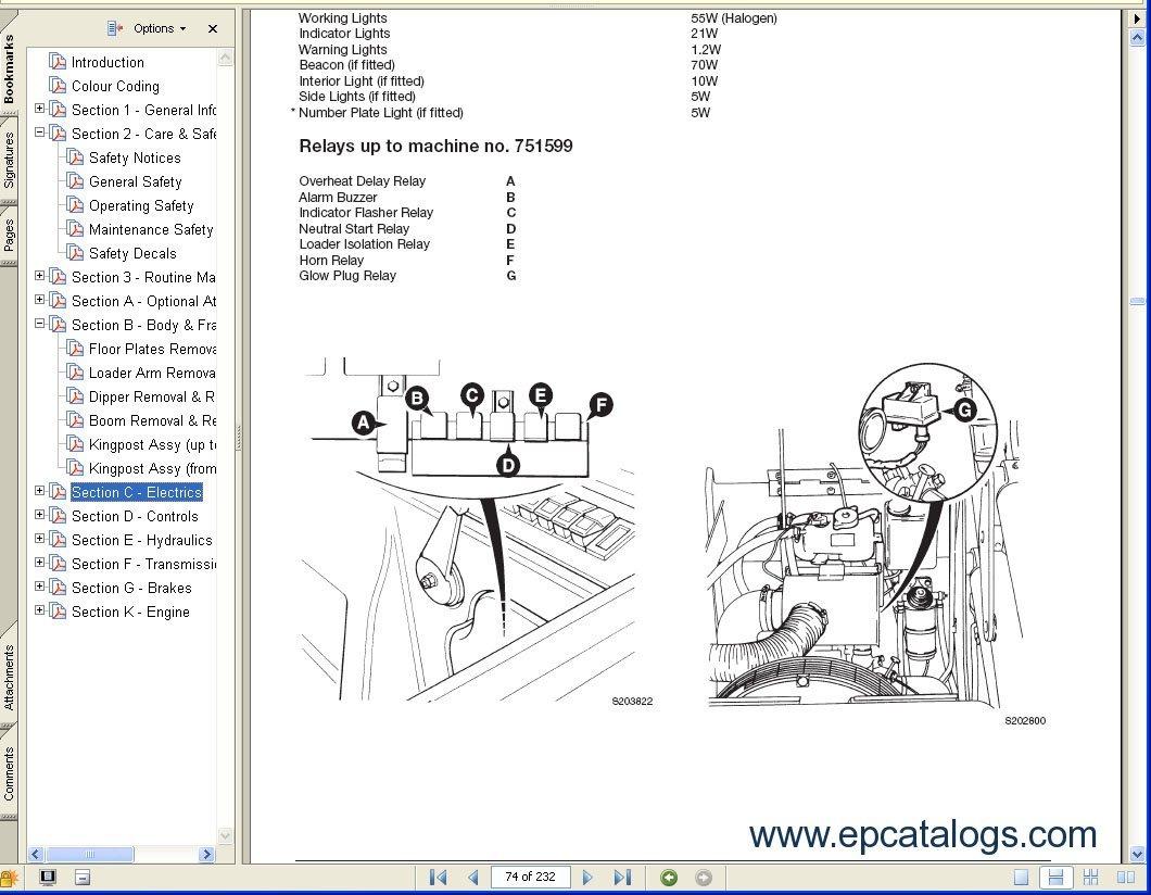repair manual JCB Service Manuals S3A - 3