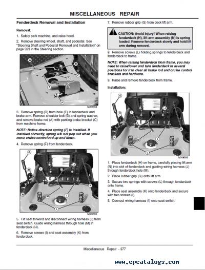 30 John Deere L110 Parts Diagram