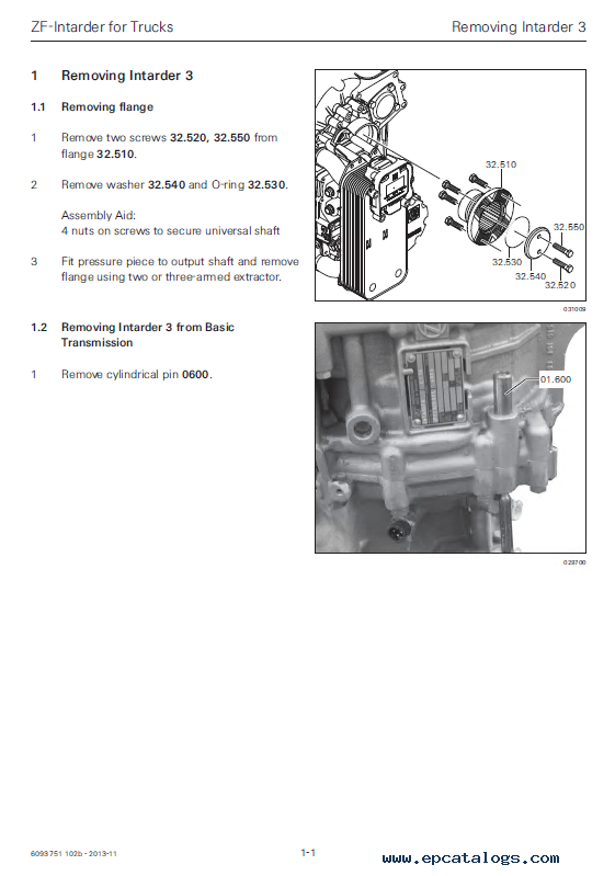 DAF ZF-Intarder EST 52 Components Manual PDF