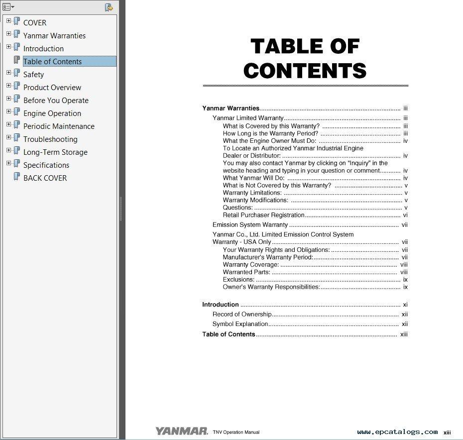 Yanmar 1401d Operation Manual
