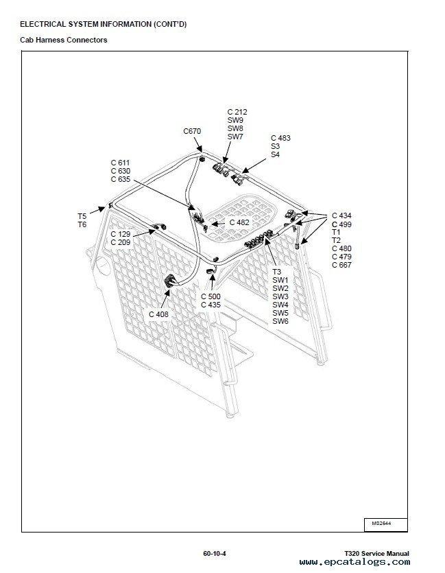 bobcat t320 compact track loader service manual pdf repair manual enlarge