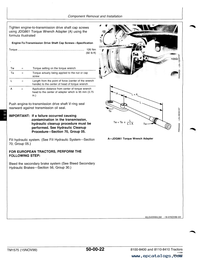 john deere tractors repair tm1575 technical manual pdf john deere 8400 wiring diagram  epcatalogs