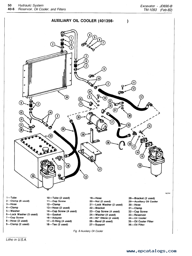 john deere 690b excavator tm1093 technical manual pdf