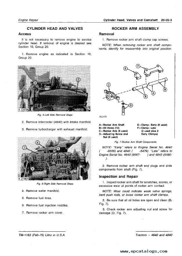 repair manual john deere 4640 & 4840 tractors technical manual tm1183 pdf -  3