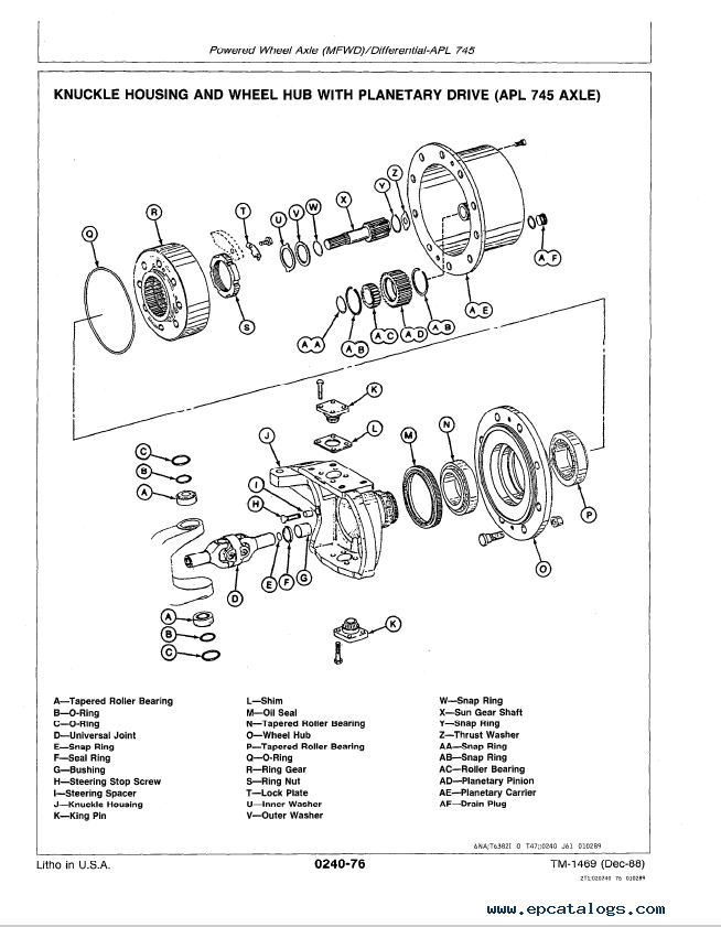 repair manual john deere 410b, 410c, 510b, 510c backhoe loaders repair  tm1469 technical