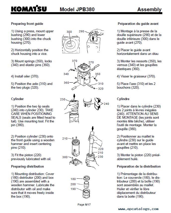 Komatsu Hydraulic Breaker Jpb380 Pdf Repair Manual Download