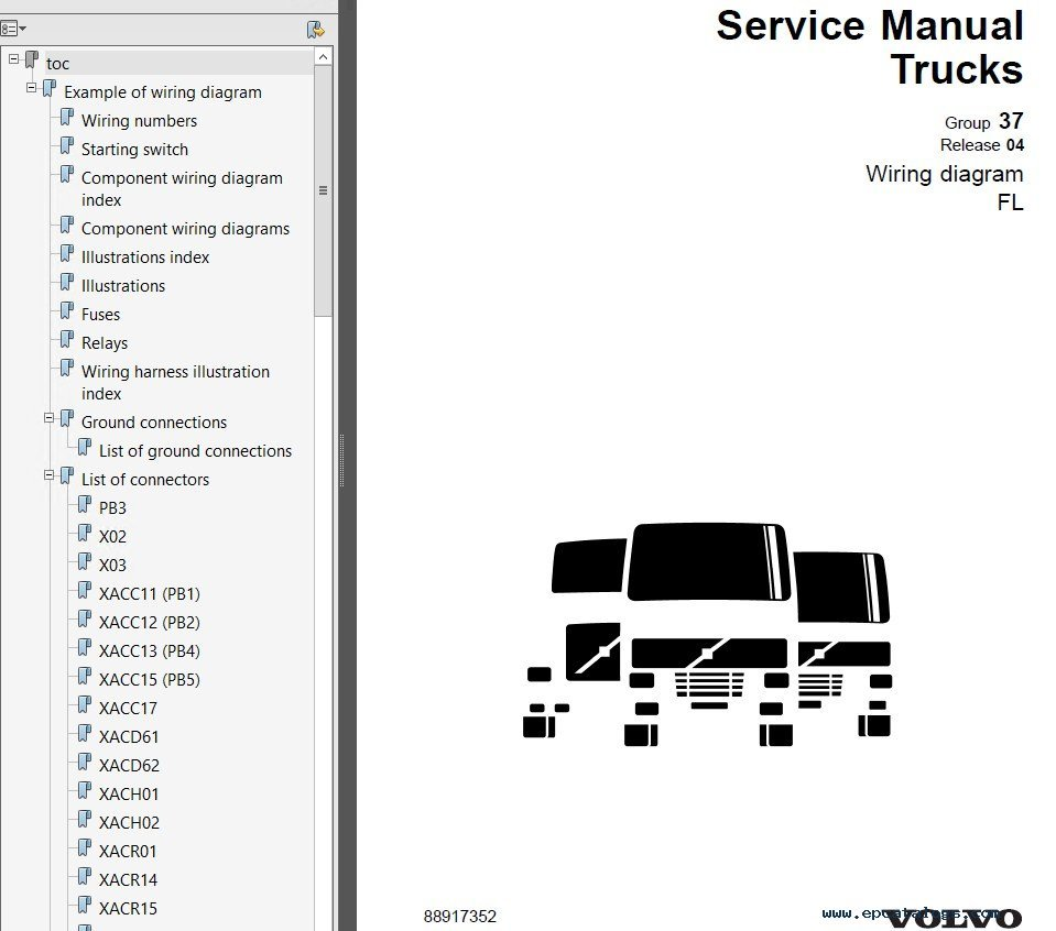 repair manual Volvo Trucks FL7, FL10, FL12 Wiring Diagram Manual PDF - 5
